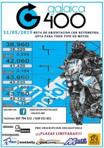 cartel GALAICA 400 19 D